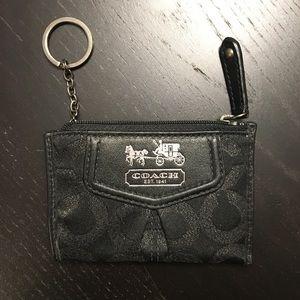 Black Coach Coin Wallet